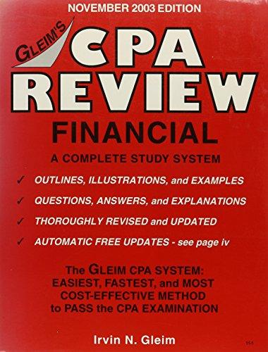9781581942859: Cpa Review Financial: Nov 2003