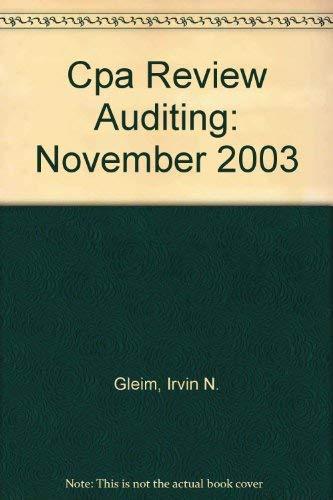 9781581942866: Cpa Review Auditing: November 2003