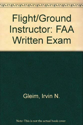 9781581943139: Flight/Ground Instructor: FAA Written Exam