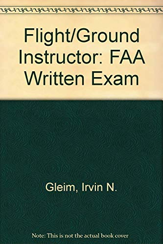 9781581944853: Flight/Ground Instructor: FAA Written Exam