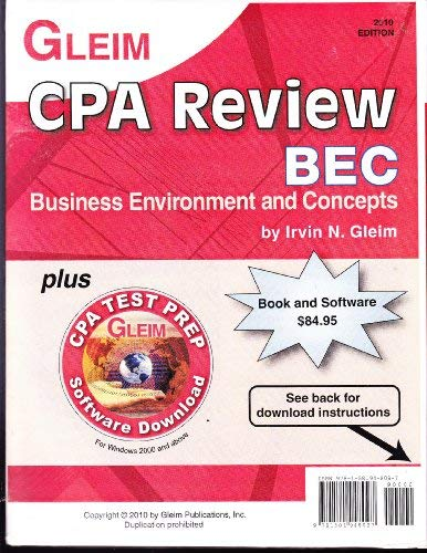 9781581948097: CPA Review 2010 Business