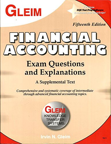 9781581948394: Financial Accounting Exam Questions and Explanations