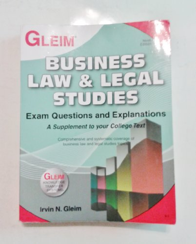 9781581949193: Gleim Business Law and Legals Studies