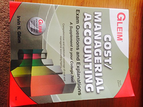 9781581949209: Cost/Managerial Accounting Exam Questions and Explanations