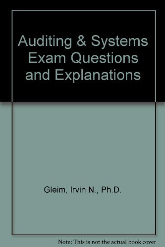 9781581949278: Auditing & Systems Exam Questions and Explanations