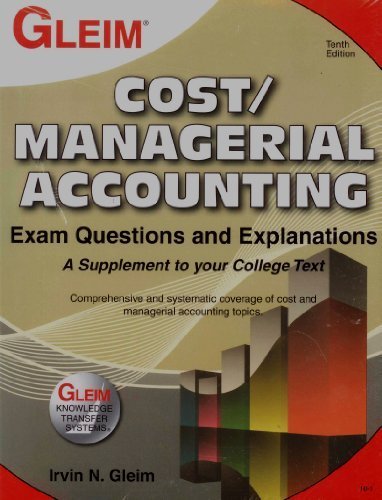 9781581949308: Cost/Managerial Accounting Exam Questions and Explanations