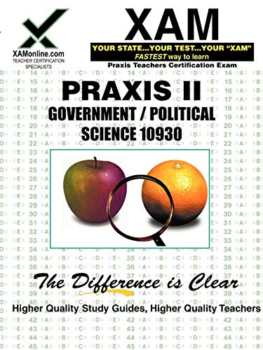 9781581970180: Praxis Government/Political Science 10930 Teacher Certification Test Prep Study Guide (Xam West-E/Praxis II)