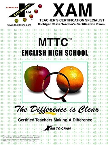 MTTC English High School : Michigan Teacher's: XAM Staff
