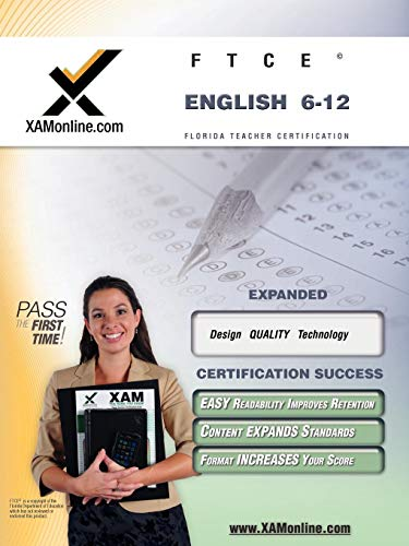 9781581972924: FTCE English 6-12 Teacher Certification Test Prep Study Guide: teacher certification exam (XAM FTCE)