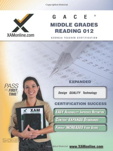 9781581975352: GACE Middle Grades Reading 012 Teacher Certification Test Prep Study Guide (XAM GACE)