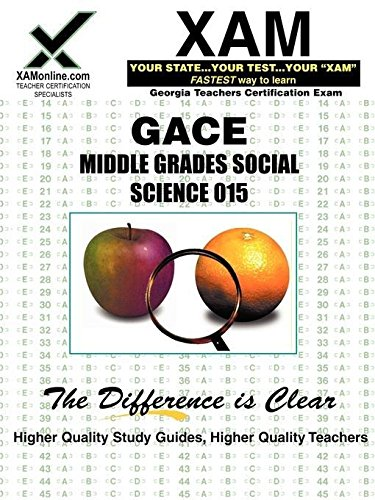 9781581975468: GACE Middle Grades Social Science 015