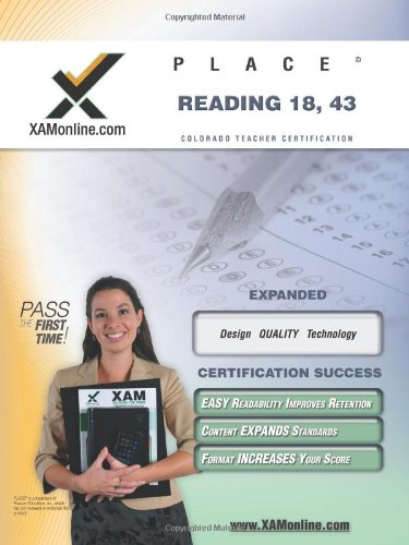 9781581977301: Place Reading 18, 43 Teacher Certification Test Prep Study Guide