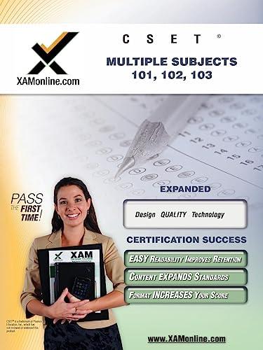 9781581978032: CSET MSAT Multiple Subjects 101, 102, 103 Teacher Certification Test Prep Study Guide