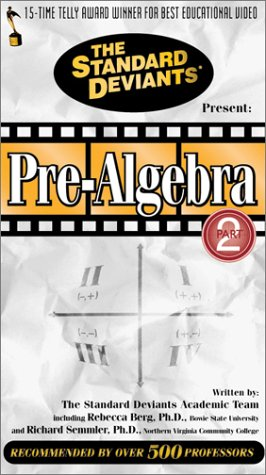9781581980417: The Standard Deviants: Pre-Algebra, Part 2 [VHS]