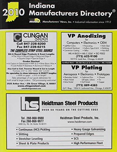 Indiana Manufacturers Directory 2010