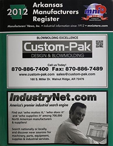 Arkansas Manufacturers Register 2012: Inc. Manufacturers News
