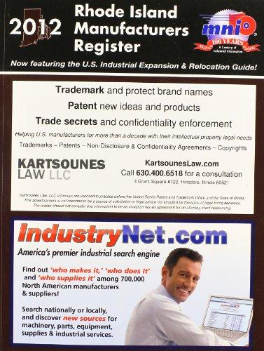 Rhode Island Manufacturers Register 2012: Inc. Manufacturers News