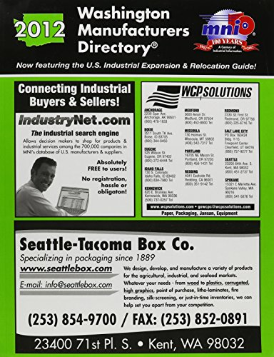 Washington Manufacturers Directory 2012: Manufacturers News, Inc.
