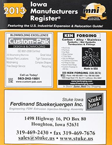 Iowa Manufacturers Register 2013: Inc. Manufacturers News
