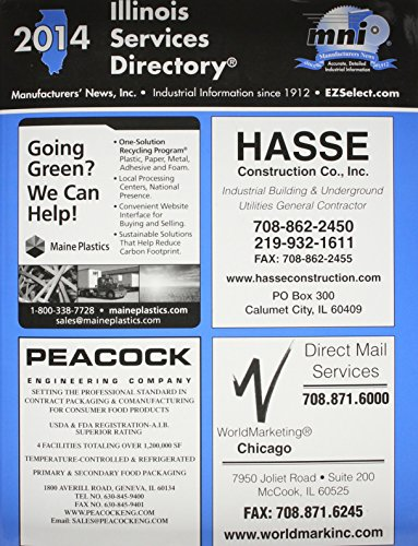 Illinois Services Directory 2014: Manufacturers' News, Inc.