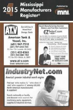 Mississippi Manufacturers Register 2015: Inc. Manufacturers News