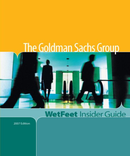 9781582076300: The Goldman Sachs Group (WetFeet Insider Guide)