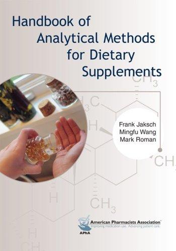 9781582120553: Handbook of Analytical Methods for Dietary Supplements