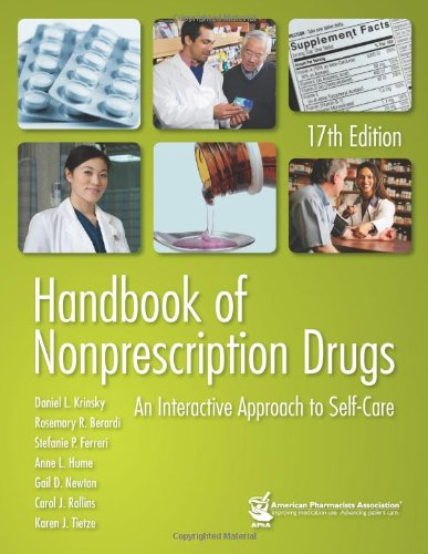 Handbook of Nonprescription Drugs (17th, 12) by: Krinsky