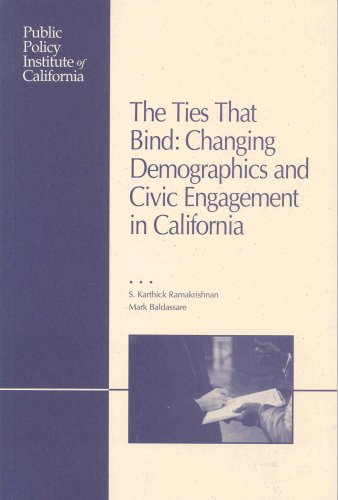9781582130842: The Ties That Bind: Changing Demographics and Civic Engagement in California