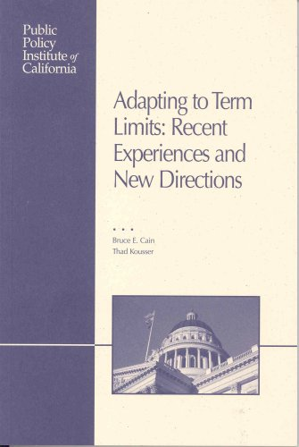9781582131016: Adapting to Term Limits: Recent Experiences and New Directions