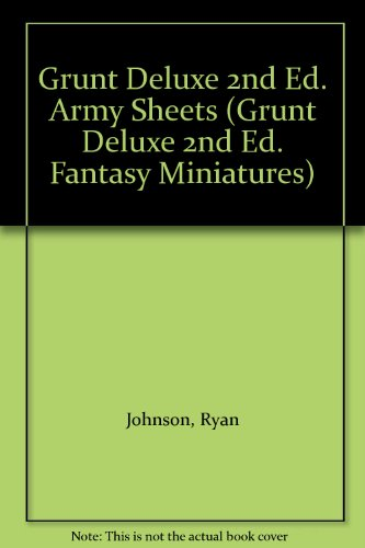Grunt Deluxe 2nd Ed. Army Sheets (Grunt: Ryan Johnson