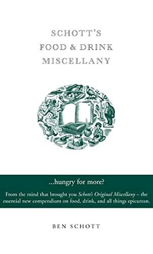 9781582344201: Schott's Food & Drink Miscellany