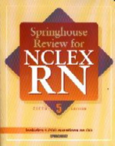 9781582551319: Springhouse Review for NCLEX-RN (Book with CD-ROM)