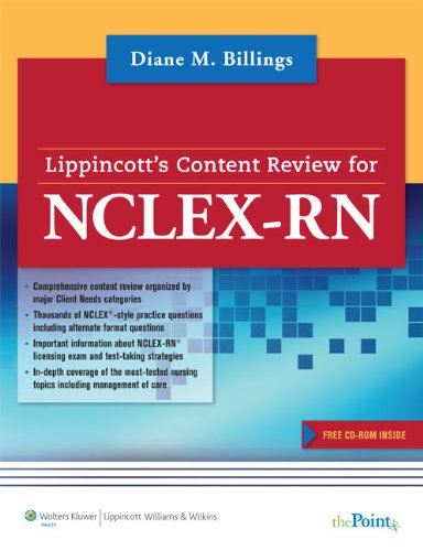 9781582555157: Lippincott's Content Review for NCLEX-RN