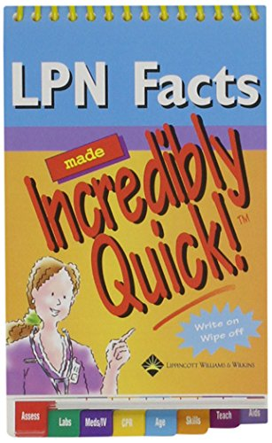 9781582555423: Lpn Facts Made Incredibly Quick!: 6-copy Prepack