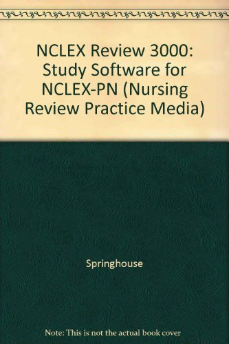 9781582556864: NCLEX® Review 3000: Study Software for NCLEX-PN® (Institutional Version) (Nursing Review Practice Media)