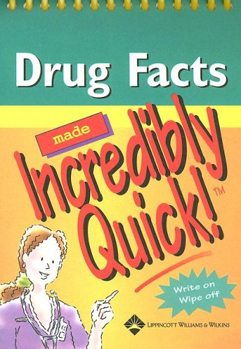 9781582557960: Drug Facts Made Incredibly Quick!