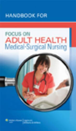 9781582558875: Handbook for Focus on Adult Health: Medical-Surgical Nursing