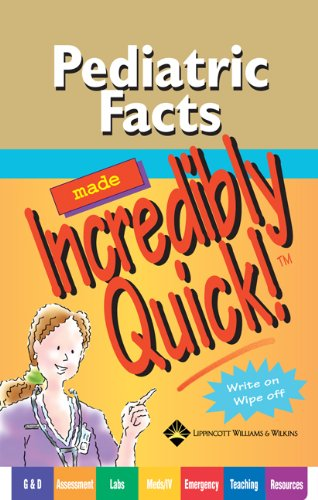 9781582559933: Pediatric Facts Made Incredibly Quick! (Incredibly Easy! Series®)