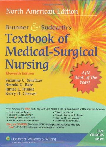 9781582559940: Brunner & Suddarth's Textbook of Medical Surgical Nursing, 11th Edition (2 Volumes)
