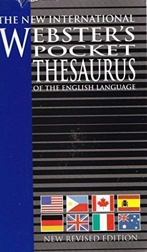 9781582794204: The New International Webster's Pocket Thesaurus of the English Language, New Revised Edition