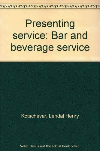 Presenting Service : Bar and Beverage Service: Valentino Luciani; Lendal