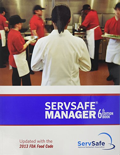 9781582803104: ServSafe Manager 6th Edition Updated with the 2013 FDA Food Code ESX6R with Exam Answer Sheet