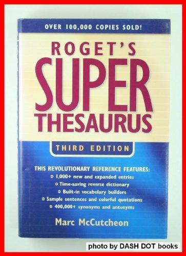 9781582972534: Roget's Super Thesaurus
