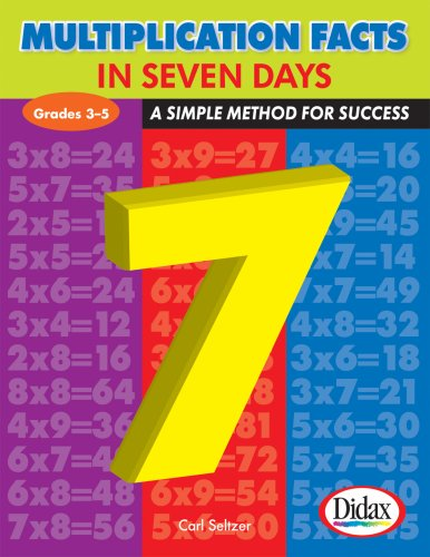 9781583242759: Multiplication Facts in Seven Days: A Simple Method for Success, Grades 3-5