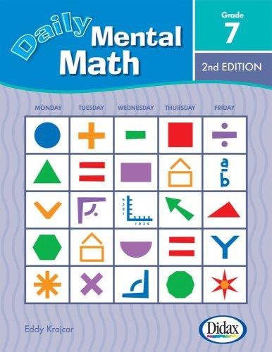 9781583242834: Daily Mental Math, 2nd Edition (Grade 7)