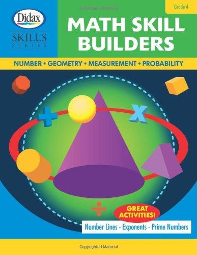 9781583243077: Math Skill Builders: Number, Geometry, Measurement, Probability (Grade 4)