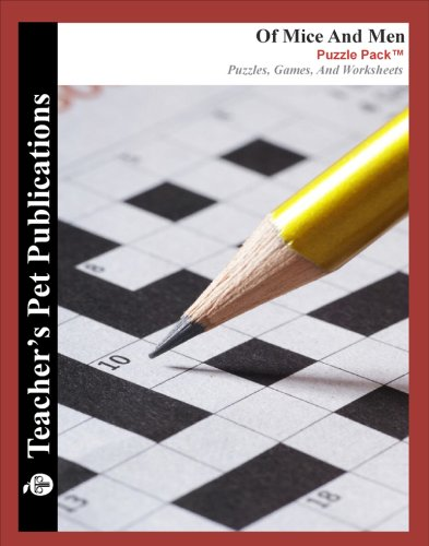 9781583378496: Of Mice and Men Puzzle Pack - Teacher Lesson Plans, Activities, Crossword Puzzles, Word Searches, Games, and Worksheets (PDF on CD)