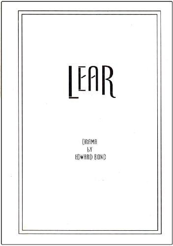 9781583420461: Lear, A Full Length Play