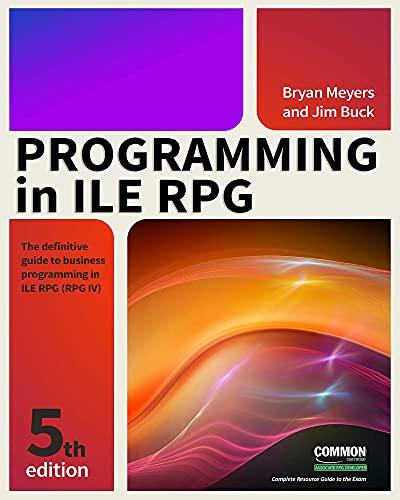 Programming in RPG IV: Y: Buck, Jim; Meyers, Bryan